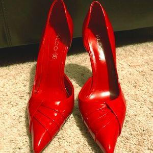 Red ALDO High Heel Pumps